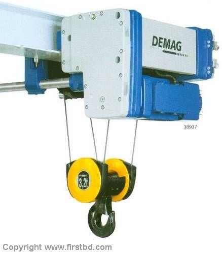 配置的demag钢丝绳电动葫芦